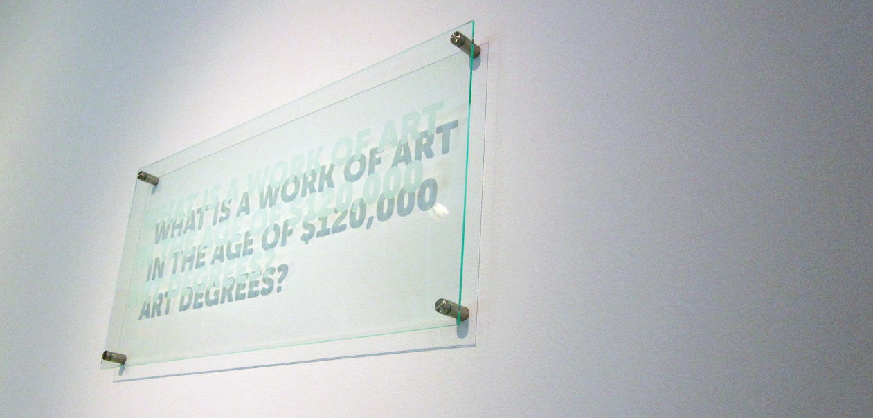 What is a work of art in the age of $120,000 art degrees?
